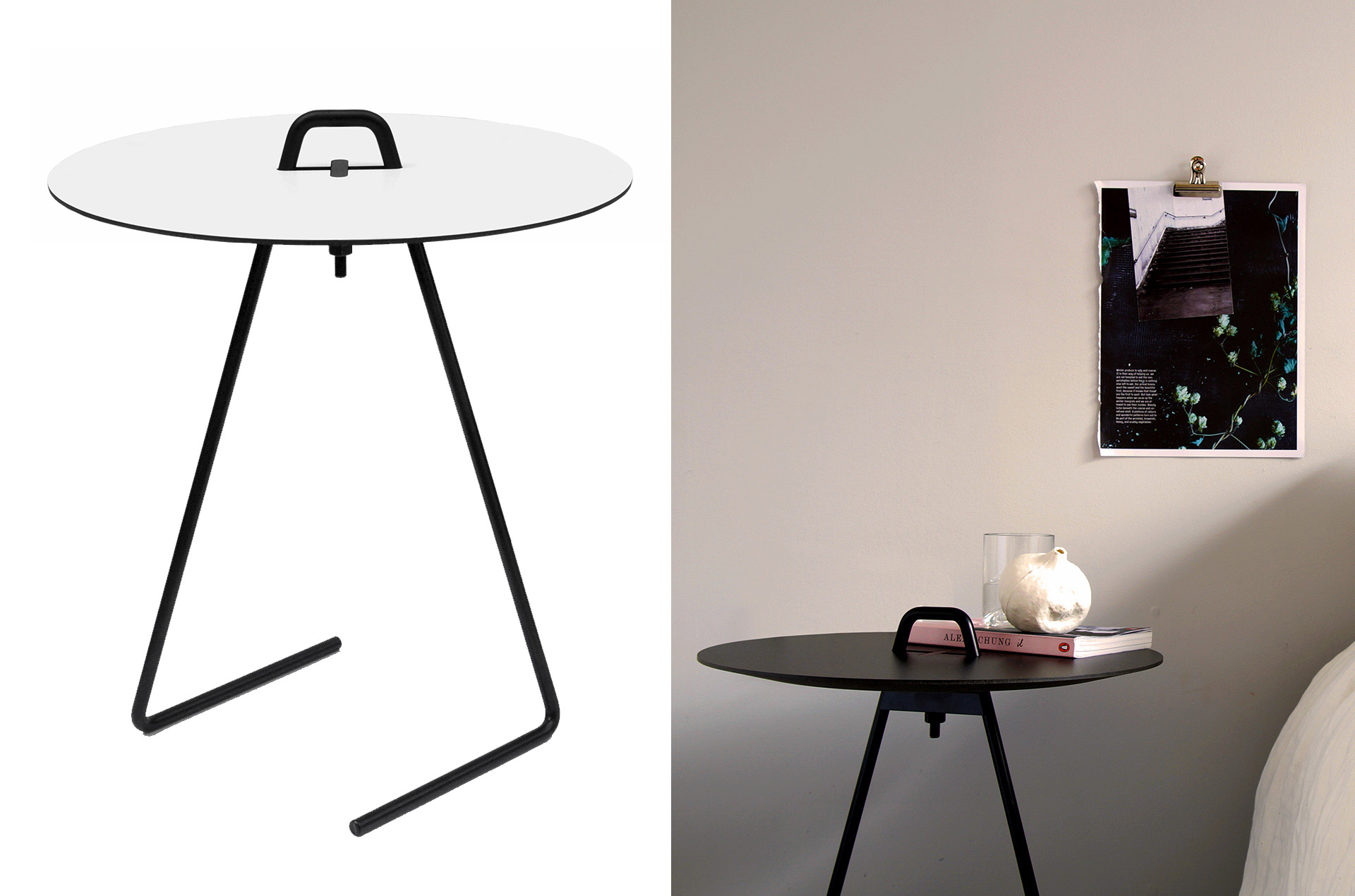 Table dappoint Side Table blanc noir by Moebe PARIDEO design durable 2